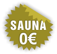 Free sauna in the cottage